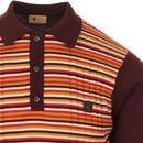 Stratus GABICCI VINTAGE Texture Stripe Mod Polo O