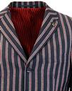 Kirk GABICCI VINTAGE 60s Mod Stripe Boating Blazer