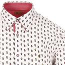 Langdale GABICCI VINTAGE 1960s Mod Paisley Shirt