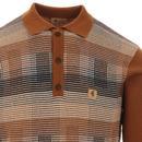 Matrix GABICCI VINTAGE POW Check Knit Polo Top (H)