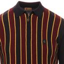 Touch GABICCI VINTAGE Mod Stripe Knit Polo (Navy)