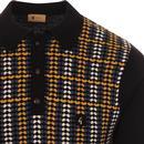 Willis GABICCI VINTAGE Retro 70s Knitted Polo - B