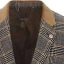 GIBSON LONDON Mod POW Check Blazer Jacket (GOLD)