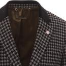 GIBSON LONDON Geo Dogtooth Check 2 Button Blazer