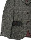 GIBSON LONDON Retro Herringbone Blazer & Waistcoat