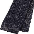 GIBSON LONDON Square End Knit Tie (Navy Melange)