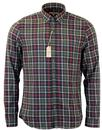 GIBSON LONDON RETRO MOD MULTI CHECK SHIRT GREEN