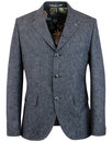 gibson london grouse mod denim linen blazer jacket
