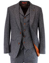 GIBSON LONDON Retro 60s Mod Denim Donegal Suit