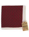 gibson london 60s mod silk dot pocket square berry