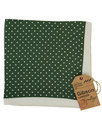 gibson london 60s mod silk dot pocket square olive