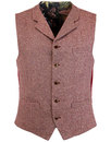 GIBSON LONDON Herringbone Donegal Lapel Waistcoat