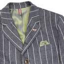 GIBSON LONDON 60s Chalk Stripe Blazer & Waistcoat