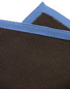GIBSON LONDON Mod Knitted Pocket Square BROWN/BLUE