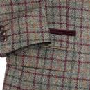 Winnie GIBSON LONDON Cord Collar Check Dress Coat