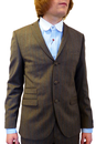 GIBSON LONDON 3 Button Flannel Mod Stripe Suit