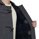 GLOVERALL Made in England Check Back Duffle Coat G