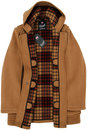 GLOVERALL Retro Checkback Mid Length Duffle Coat T