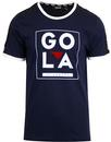 gola classics gowling chest logo ringer tee navy