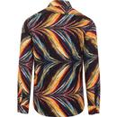 Psychedelic Flames GUIDE LONDON 60s Mod Shirt