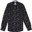 guide london dragonfly print smart shirt navy