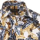 GUIDE LONDON Men's Retro Feather Print Shirt