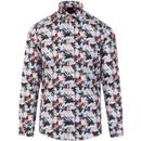 GUIDE LONDON 60s Mod Psychedelic Fish Print Shirt