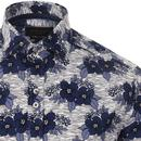 GUIDE LONDON Retro 70's Bold Floral Print Shirt N