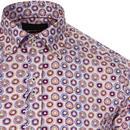 GUIDE LONDON Psychedelic 60s Circles Print Shirt