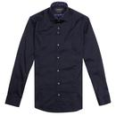 guide London jellyfish trim formal shirt navy