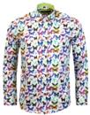 guide london retro mod psychedelic butterfly shirt