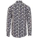 GUIDE LONDON 1960s Mod Daisy Floral Print Shirt