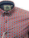 GUIDE LONDON Retro Sixties Psychedelic Geo Shirt