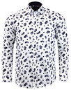 GUIDE LONDON Mod Flock Paisley Big Collar Shirt