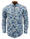 guide london multi shirt blue mod