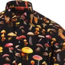 GUIDE LONDON Retro 60s Mushroom Print Shirt