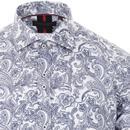 GUIDE LONDON Monotone Psychedelic Paisley Shirt W