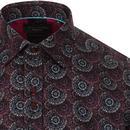 GUIDE LONDON Floral Fireworks Mod Target Shirt