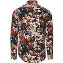 GUIDE LONDON Retro Mod Floral Bird Print Shirt (W)