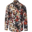 guide london mens lavish tropical floral print long sleeve shirt white multi