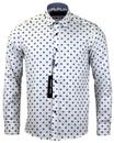 GUIDE LONDON RETRO MOD 70S POLKA DOT SHIRT