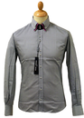 Houndstooth GUIDE LONDON Retro 60s Mod Shirt