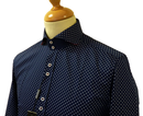 Polkadot GUIDE LONDON Retro Sixties Mod Shirt (N)