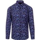 GUIDE LONDON Mens Retro Bold Jellyfish Print Shirt
