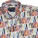 GUIDE LONDON 60s Mod Paint Palette Textured Shirt
