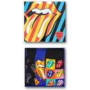 Happy Socks for Women - Limited Edition Rolling Stones Gift Set of 3 Rolling Stones Socks