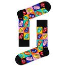 Happy Socks x The Rolling Stones Jumpin Jack Flash Pop Art Licks Socks