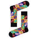 + HAPPY SOCKS x ROLLING STONES 6 Sock Gift Box