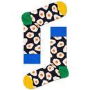 Happy Socks for Women Retro Fried Egg Pattern Socks