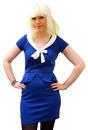 Matilda HEARTBREAKER Retro Mod Tie Collar Dress